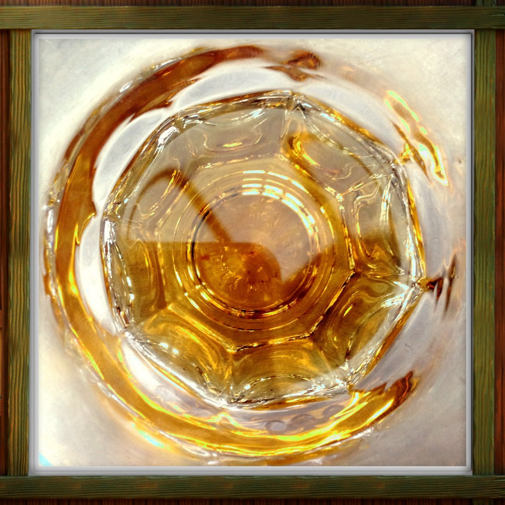 view into whiskey glass